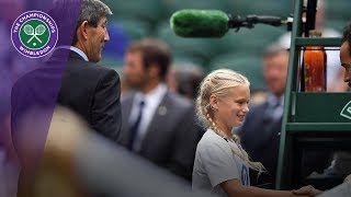 The girl behind the coin toss | Wimbledon 2018