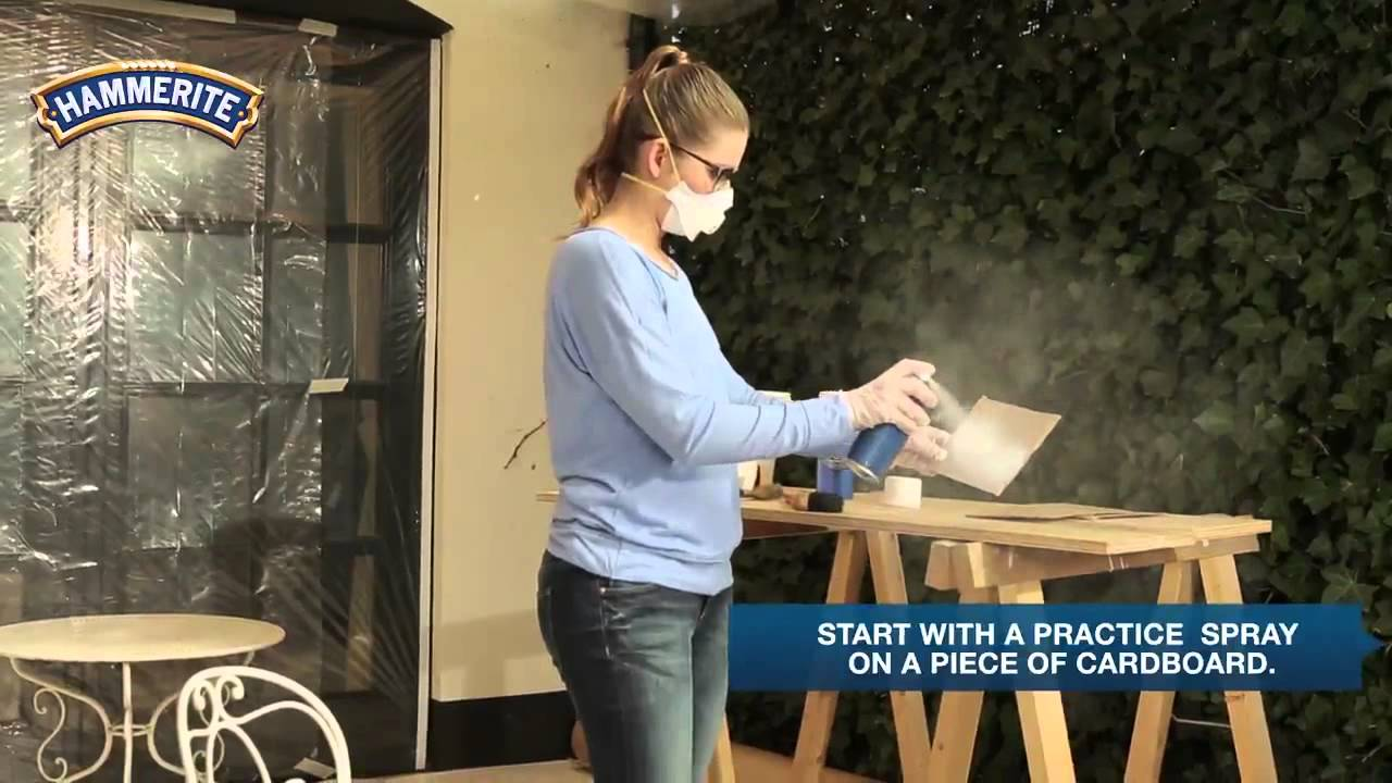 DIY: How to Spray Paint Metal Furniture - YouTube