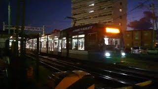 広島電鉄5000形5006号『アンジュヴィオレ広島ラッピング』広電宮島口発車