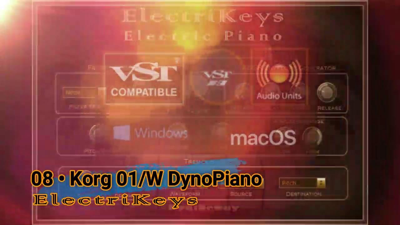 Virtual Korg 01/W Dyno Piano Preset from ElectriKeys VST VST3 Audio Unit  EXS24 KONTAKT
