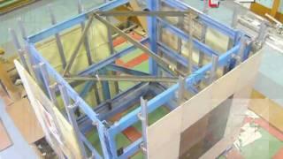 Сейсмостойкость конструкций  фасадных систем(испытания на Сейсмостойкость конструкций навесных фасадных систем с облицовкой композитными панелями..., 2010-03-24T05:39:53.000Z)