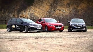 VW Golf 7 / Mazda 3 / Peugeot 308