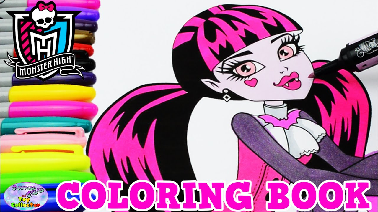 Monster High Coloring Book Episode Show Draculaura MH Surprise Egg