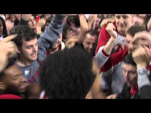 Nebraska Upsets Ohio State, Students Storm Court 1/20/14