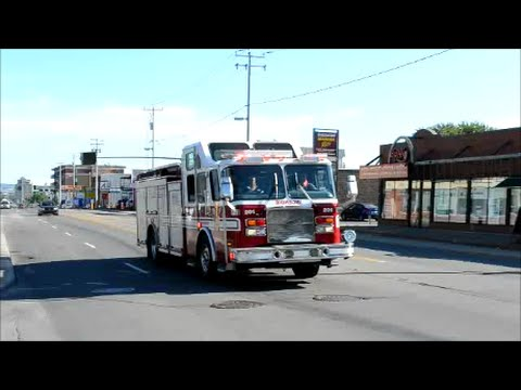LAVAL QUEBEC FIRE TRUCK 201 RESPONDING IN PONT-VIAU