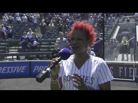 Lulu Fall of 'The Who's Tommy' sings national anthem for Colorado Rockies