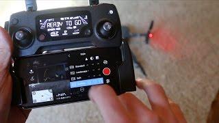 DJI Mavic Pro Video Camera Settings Walkthough