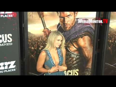 Anna Hutchinson arrives at Spartacus - War of the Damned U.S Premiere screening