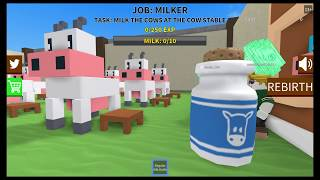 Roblox - Farming Simulator (Milking A Cow) lol