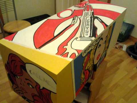 pop art style costume made box table youtube. Black Bedroom Furniture Sets. Home Design Ideas