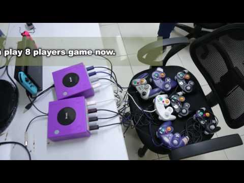 How to use Gamecube contoller to play 8 players game in Switch