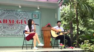 Nam Sinh Nữ Sinh-GuitarLe0 and  pé Oanh