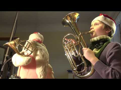 Jigle Bells. Christmas song played on Alto Horn