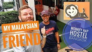 My Malaysian friend in Bangkok. Going to Monkey Nap Hostel