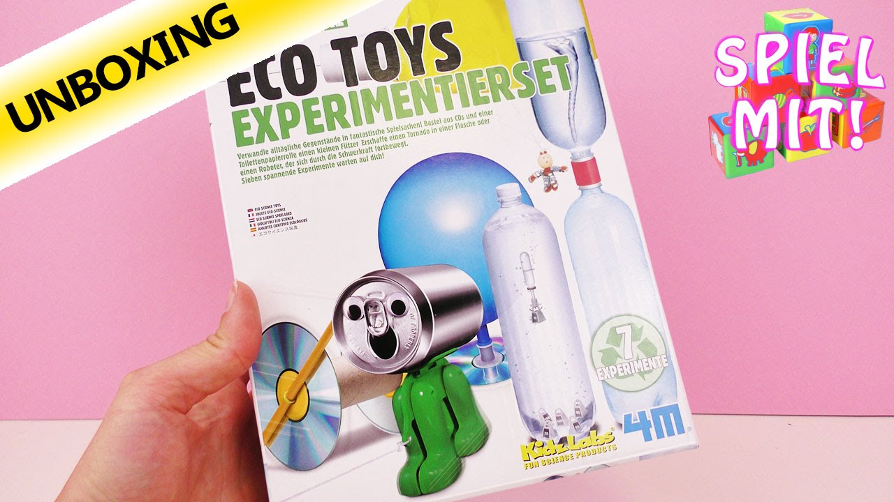 eco sience set spielzeug selber machen recycling unboxing - youtube