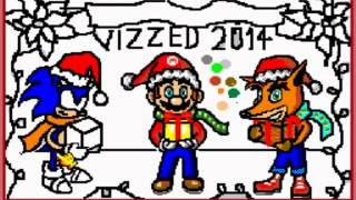 Mario Paint - Dec 14 Christmas Mario Paint Contest: A Classic Christmas - User video
