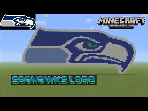 Minecraft: Pixel Art Tutorial and Showcase: Seattle Seahawks Logo (Super Bowl)