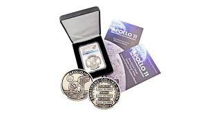 2019 MS70 NGC Apollo 11 50th Anniversary Robbins Medal R...