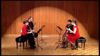 The Con Fuoco Clarinet Quartet, students of Prof. Garrick Zoeter at...