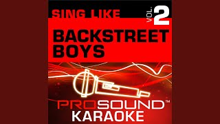 No One Else Comes Close (Karaoke with Background Vocals) (In the Style of Backstreet Boys)
