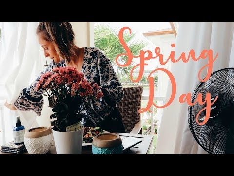 A Very Spring DAY IN MY LIFE meals fresh starts gardening