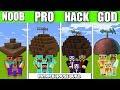 Minecraft Battle : PATRICK HOUSE FAMILY CRAFTING CHALLENGE NOOB vs PRO vs HACKER Minecraft Animation