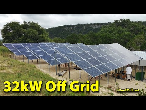 32kW Off Grid Tie Solar Off Grid Ranch 01