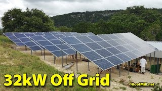 32kW Off Grid Tie Solar Off Grid Ranch 01