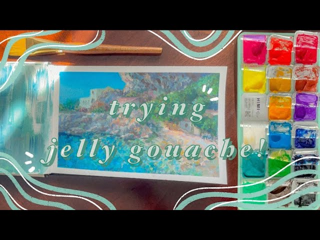 [VIDEO] 🖌️trying gouache for the first time!  MIYA/HIMI JELLY GOUACHE
