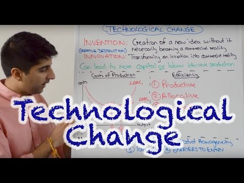 Y2/IB 14) Technological Change - Invention, Innovation, Efficiency, Barriers to Entry