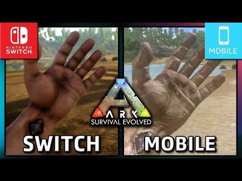 Ark: Survival Evolved   Switch Handheld VS Mobile   Graphics Comparison