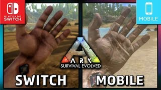 Ark: Survival Evolved | Switch Handheld VS Mobile | Graphics Comparison