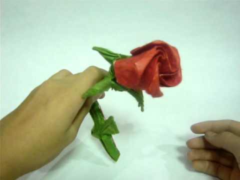 Origami One Sheet Rose Youtube