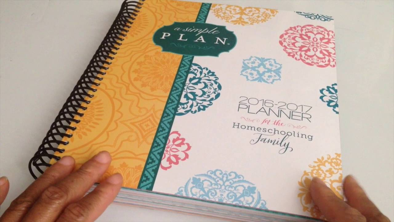 my 2016 17 a simple plan homeschooling planner from mardel youtube