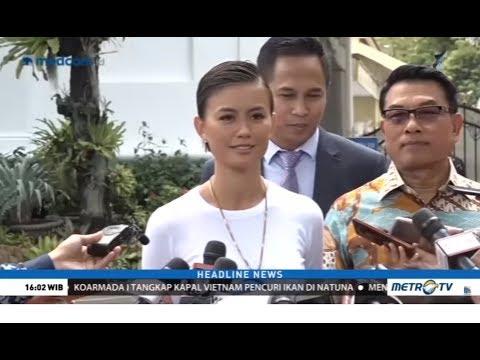 Agnez Mo Bertemu Jokowi di Istana Membahas Semangat Generasi Muda