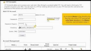 كيفية إنشاء حسابات FTP في cPanel | استضافة موقع تعليمي