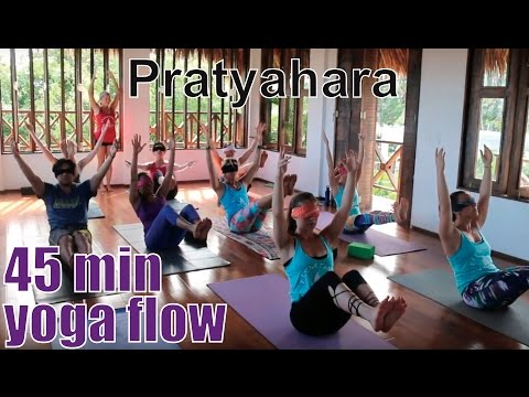 45 Minute Yoga Class - 8 Limbs of Yoga Part 5: Pratyahara