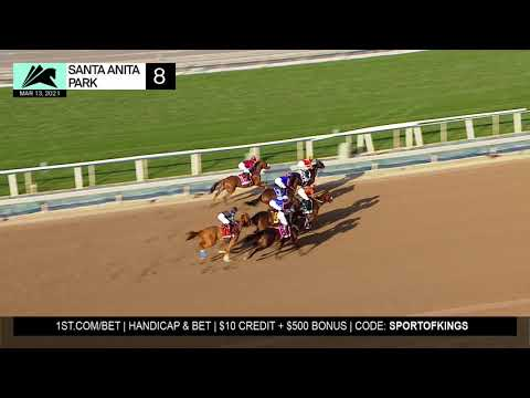 Swiss Skydiver wins the Grade 1 Beholder Mile on March 13th, 2021 at Santa Anita Park.