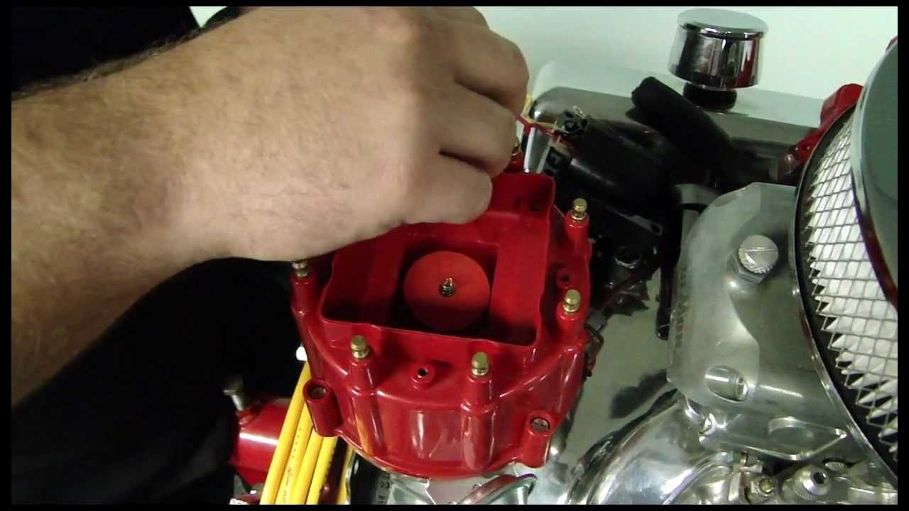 small resolution of how to install accel hei corrected distributor cap video pep boys chevy ignition coil wiring gm wiring coil in cap
