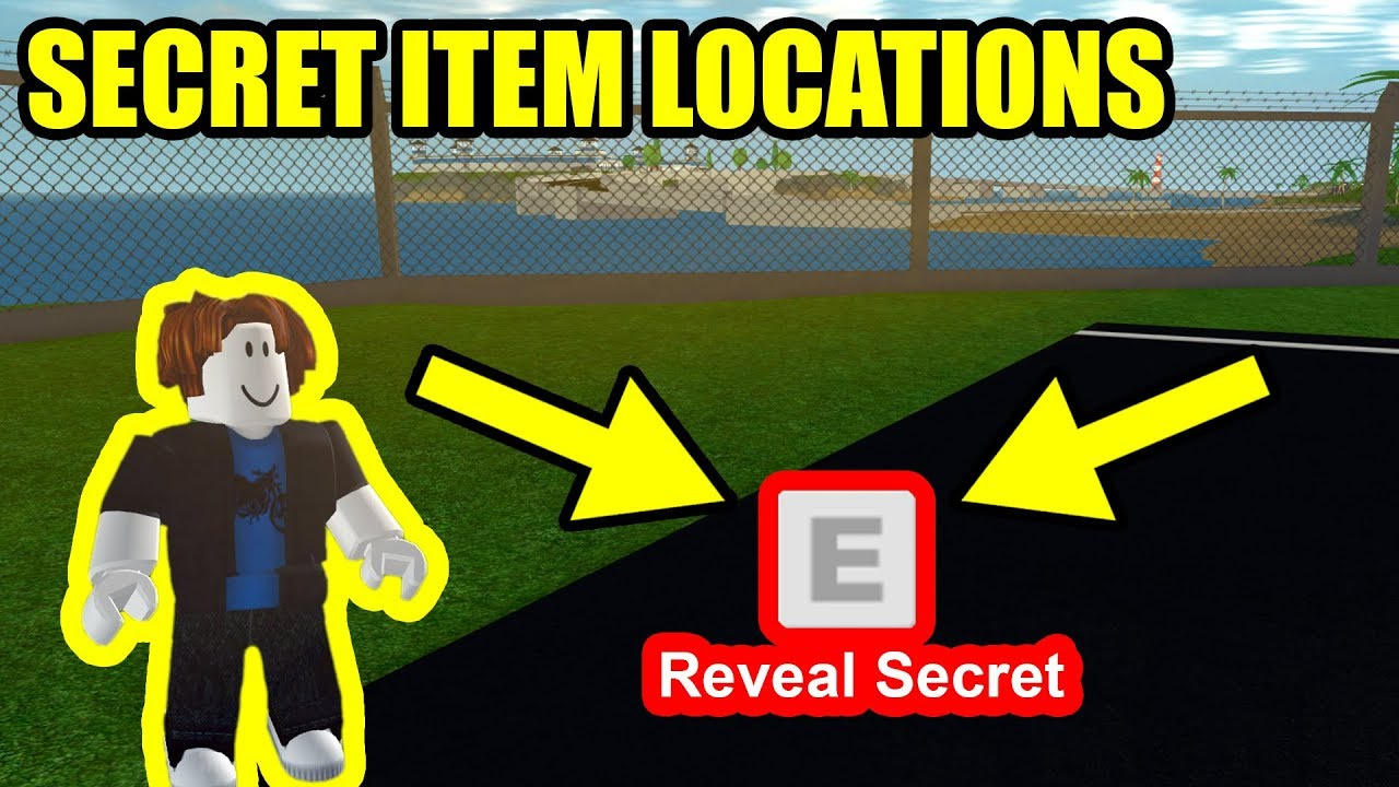 ALL 3 SECRET ITEM LOCATIONS!!! | Roblox Mad City #1