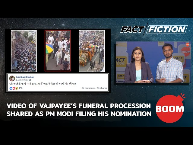 Fact Vs Fiction: Video Of Vajpayee's Funeral Procession Shared As PM Modi Filing His Nomination