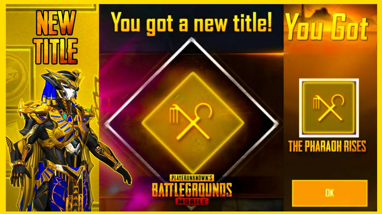 EASY WAY TO GET THE PHARAOH RISES TITLE IN PUBG MOBILE ( HOW TO GET THE PHARAOH KEY )