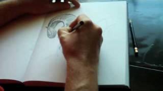 Speed Art Sketch (Real Time) Demon Skull 1
