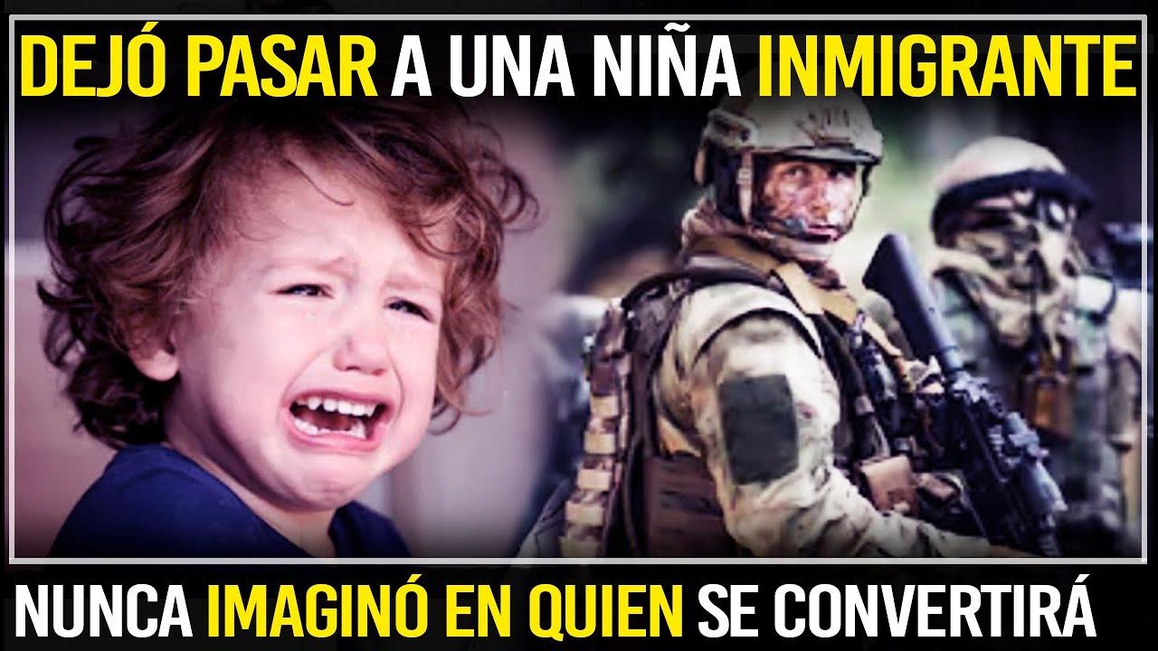 Soldado Dejó Pasar A Una Pequeña Emigrante… Tiempo Después No Pudo Creer En Quien Se Ha Convertido