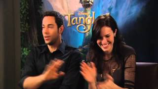 Tangled interviews Mandy Moore + Zachary Levi with Renee Brack h264
