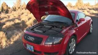 This is a review of the 2002 audi tt quattro coupe. powered by 1.8l turbocharged 4 cylinder that produces 225 horsepower. 0-60mph comple...
