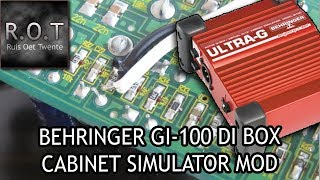 Behringer GI100 DI - Cab Simulator modification