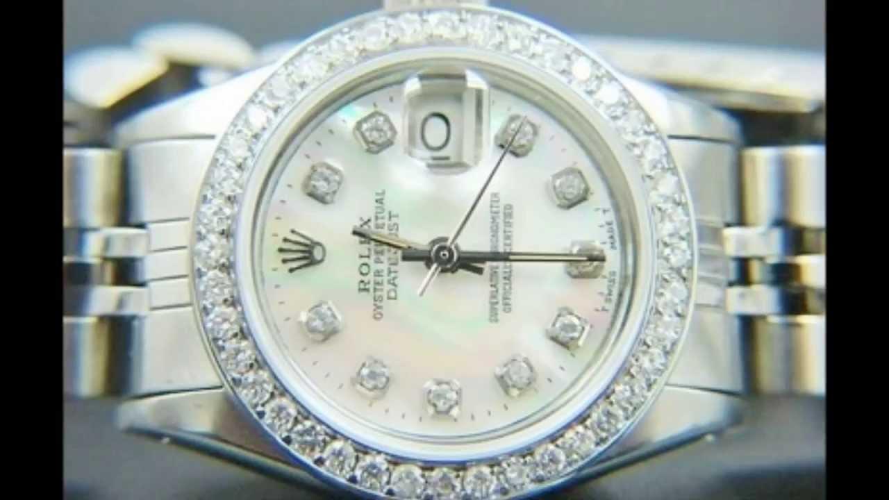 Rolex Oyster Perpetual Datejust Womens Diamonds