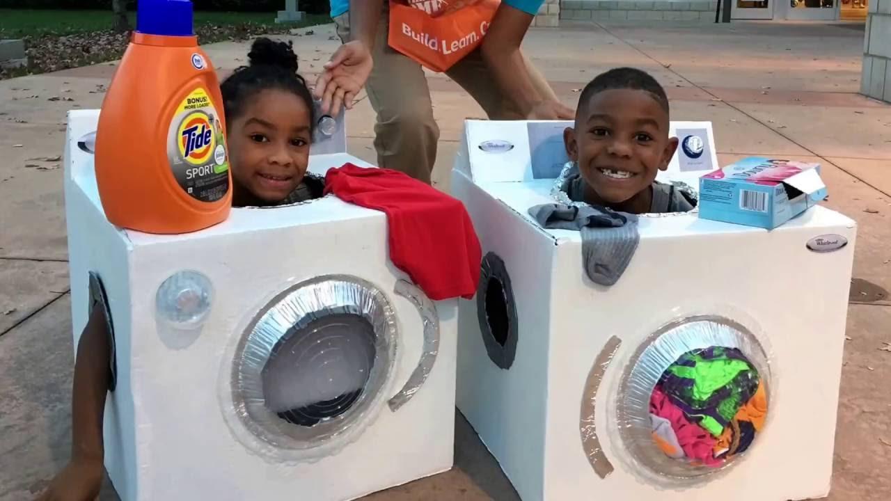 Image result for diy washing machine cardboard box costume