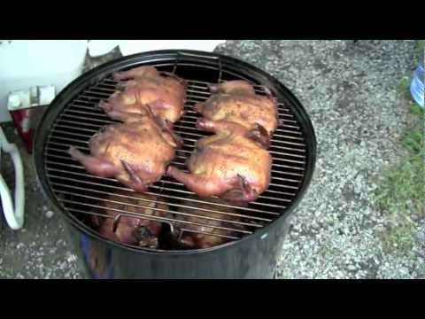 Smoked Cornish Game Hens On The Weber Bullet